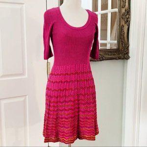 Missoni Pink Knit Sweater Dress Size 4